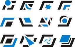 Ontwerpelementen en emblemen Stock Foto