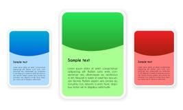 Ontwerpelementen met Plaats voor Uw Tekst in Drie Kleurenvarianten Royalty-vrije Stock Afbeelding