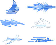 Ontwerpen de Vastgestelde Reeksen van het Pictogram van de snelheid Elementen Royalty-vrije Stock Afbeeldingen