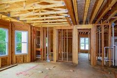Ontwerpende Samenvatting van het nieuwe Bouw de Houten Huis Stock Afbeeldingen