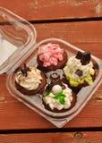 Ontwerper Cupcakes Royalty-vrije Stock Foto's