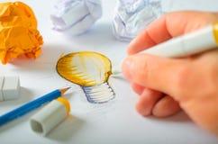 Ontwerper Drawing Stock Foto