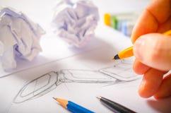 Ontwerper Drawing Royalty-vrije Stock Afbeelding