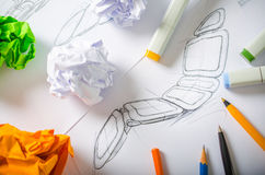 Ontwerper Drawing Royalty-vrije Stock Afbeeldingen