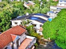 Ontwerperhuizen in landelijk Mauritius Stock Foto