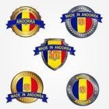 Ontwerpetiket van gemaakt in Andorra Vector illustratie royalty-vrije illustratie