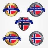 Ontwerpetiket van gemaakt in Noorwegen Vector illustratie royalty-vrije illustratie