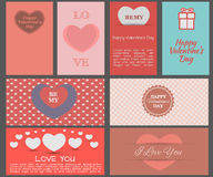 Ontwerpkaarten voor de Dag van Valentine Royalty-vrije Stock Fotografie