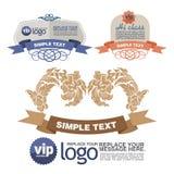 Ontwerplay-out stiker en etiket Royalty-vrije Stock Foto's