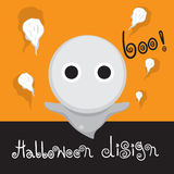 Ontwerpmalplaatje Halloween Royalty-vrije Stock Afbeelding
