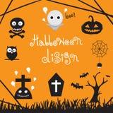 Ontwerpmalplaatje Halloween Stock Afbeeldingen