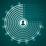Ontwerpmalplaatje het bedrijfs van Infographics Het winkelen markeringen en pictogrammen De minimale Illustratie van het Cirkeldi Stock Afbeelding