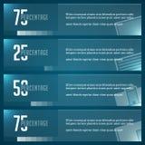 Ontwerpmalplaatje het bedrijfs van Infographics Het winkelen markeringen en pictogrammen Minimale het Diagramillustratie van de B Royalty-vrije Stock Afbeelding