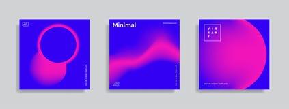 Ontwerpmalplaatje met trillende gradiëntvormen royalty-vrije illustratie