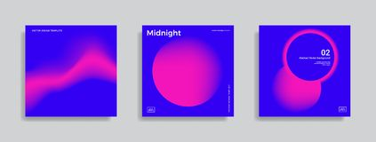 Ontwerpmalplaatje met trillende gradiëntvormen Stock Fotografie