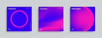 Ontwerpmalplaatje met trillende gradiëntvormen Royalty-vrije Stock Afbeeldingen