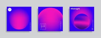 Ontwerpmalplaatje met trillende gradiëntvormen Stock Foto
