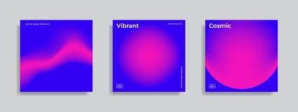 Ontwerpmalplaatje met trillende gradiëntvormen Royalty-vrije Stock Fotografie