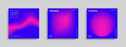 Ontwerpmalplaatje met trillende gradiëntvormen Royalty-vrije Stock Afbeelding