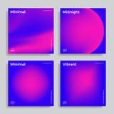 Ontwerpmalplaatje met trillende gradiëntvormen vector illustratie