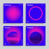 Ontwerpmalplaatje met trillende gradiëntvormen stock illustratie
