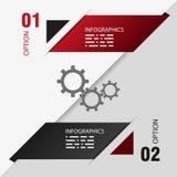 Ontwerpmalplaatje van twee opties. grafische informatie Stock Afbeelding