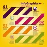 Ontwerpmalplaatje voor infographics met horizontaal Stock Foto