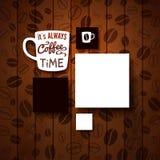 Ontwerpmalplaatje voor Uw koffiewinkel. Royalty-vrije Stock Fotografie