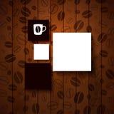 Ontwerpmalplaatje voor Uw koffiewinkel. Royalty-vrije Stock Foto's