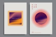 Ontwerpmalplaatjes met trillende gradiëntvormen royalty-vrije illustratie
