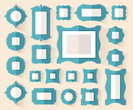 Ontwerpomlijstingen in vlakke stijl Vector Royalty-vrije Stock Fotografie