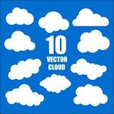 ontwerpreeks blauwe hemelwolken royalty-vrije illustratie
