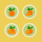 Ontwerpstickers met Sappige Sinaasappel Stock Afbeelding