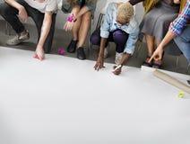 Ontwerpstudenten Team Designing Start op Concept stock foto