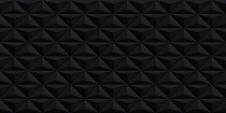Ontwerpt de volume realistische vector zwarte textuur, geometrisch naadloos tegelspatroon, donkere achtergrond voor u projecten vector illustratie