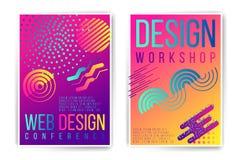Ontwerpworkshop, het aanplakbiljet van de ontwerpconferentie Royalty-vrije Stock Afbeeldingen