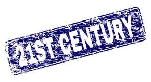 Ontwierp de Grunge 21ST EEUW Rond gemaakte Rechthoekzegel stock illustratie