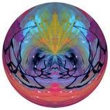 Ontwierp het samenvatting Gekleurde Gebied, Bol, Kleurrijke Ontworpen die Bal op witte achtergrond wordt geïsoleerd stock afbeelding
