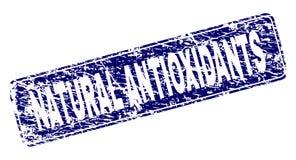 Ontwierpen het Grunge NATUURLIJKE ANTI-OXYDEREND Rond gemaakte Rechthoekzegel vector illustratie