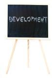 Ontwikkeling in een bord Royalty-vrije Stock Afbeelding