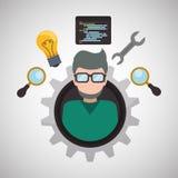 Ontwikkeling en softwareontwerp royalty-vrije illustratie