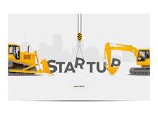 Ontwikkeling van de startverwezenlijkingsBouwconstructie Vector illustratie Royalty-vrije Stock Afbeeldingen
