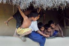 Ontwikkeling van het platteland in India Stock Foto's