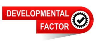 Ontwikkelingsfactorenbanner stock afbeelding