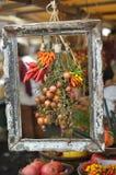 Ontworpen groenten in markt royalty-vrije stock afbeelding