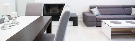 Ontworpen moderne woonkamer Stock Afbeelding