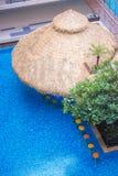 Ontzagwekkende bar in de pool Stock Foto's