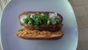 Ontzagwekkende hotdog Stock Foto