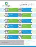 Ontzagwekkende Infographic 2 Stock Fotografie