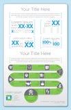 Ontzagwekkende Infographic 1 Royalty-vrije Stock Foto